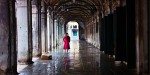 red-dressed-girl-in-Venice - Venice in winter - photos by Ashwin Rao
