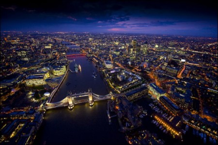 In pictures: London at night by Jason Hawkes