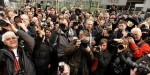 Photographers protest outside Scotland Yard over new anti-terror law - crowd-aim_1296821i