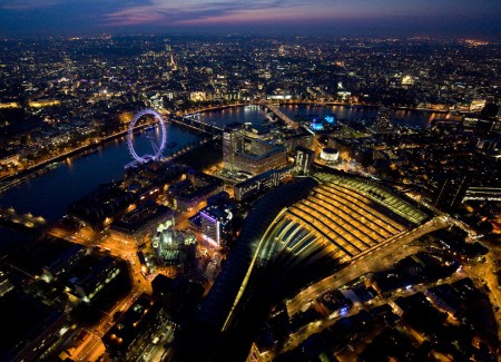 More of London from above at night by Jason Hawkes @ The Big Picture