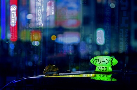 Taxicab Bokeh – photos of Japanese taxis at night by Fabio Sabatini