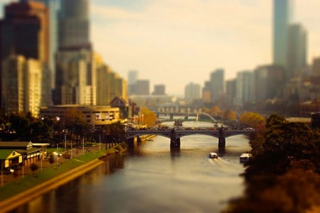 Tilt-shift urban photography by Ben Thomas