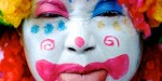 Clown face - Edinburgh Fringe Festival