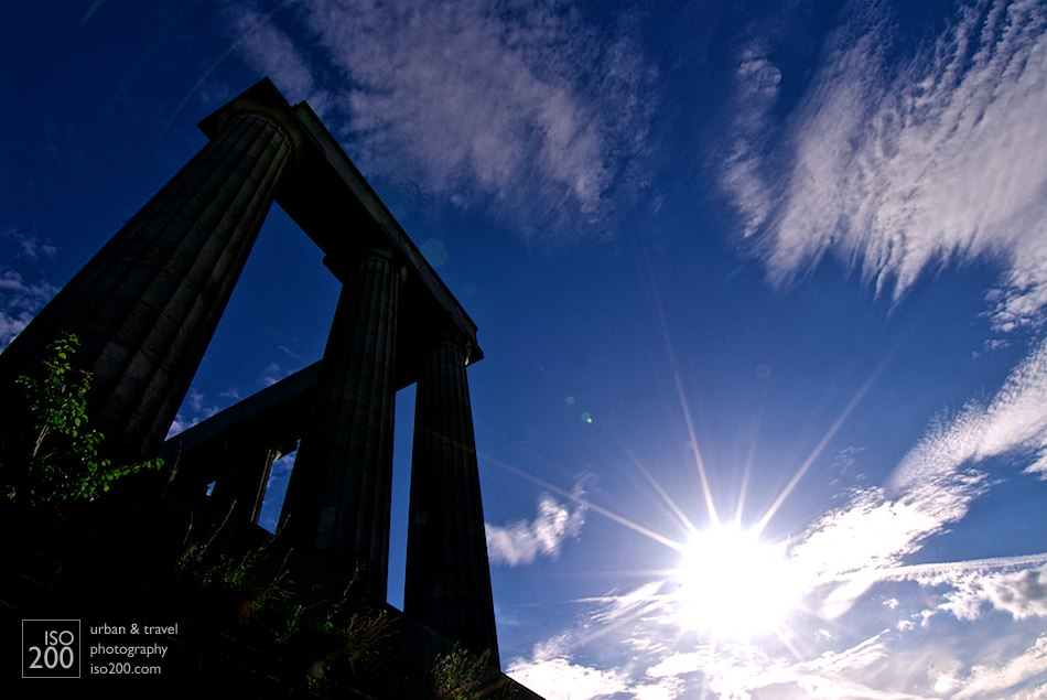 Calton Hill sunburst