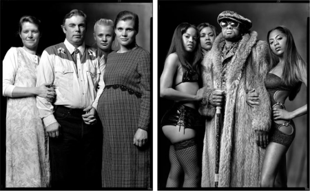 Polygamist vs. Pimp – parallel portraits of cultural differences in the USA by Mark Laita