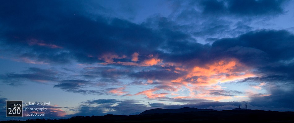 Edinburgh-Braid_Hills_sunset