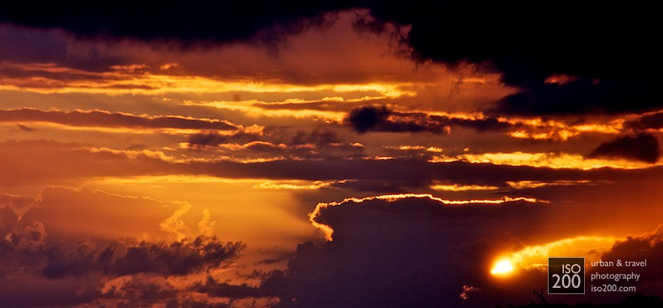 Photo blog post: 'Fire in the sky'