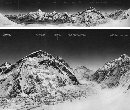 Early expedition photography of Mount Everest