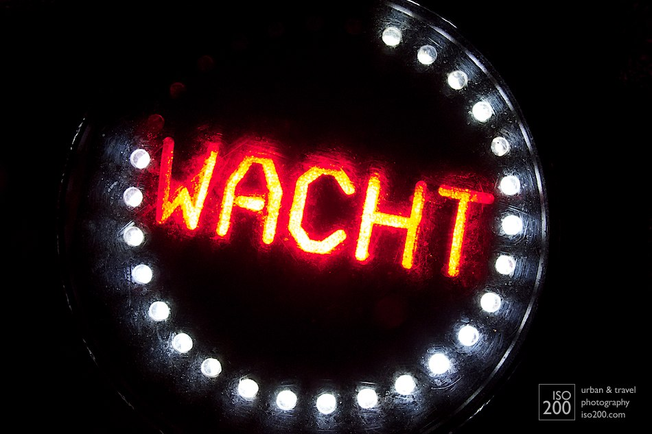 A Dutch wait light - the LEDs light up in a clockwise pattern - when the ring is complete the lights change and you can cross safely.