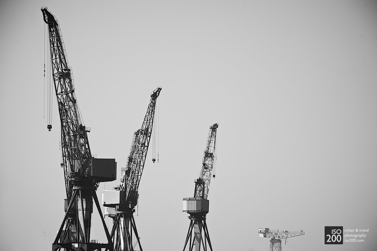 Photo blog post: 'Glasgow cranes'