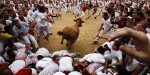 The Frame: Third day of the Pamplona bull running fiesta