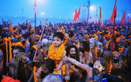 Millions of Hindus gather at the Ganges in India for the Maha Kumbh Mela