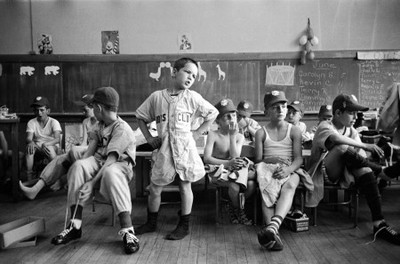 LIFE Behind the Picture: Little Leaguers waiting for uniforms, 1954
