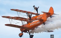 Photo blog photo: 'Hanging on – the Breitling wingwalkers'