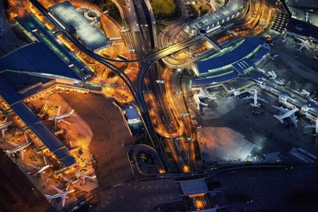 Jeffrey Milstein's 'Flying' looks at airports from the air