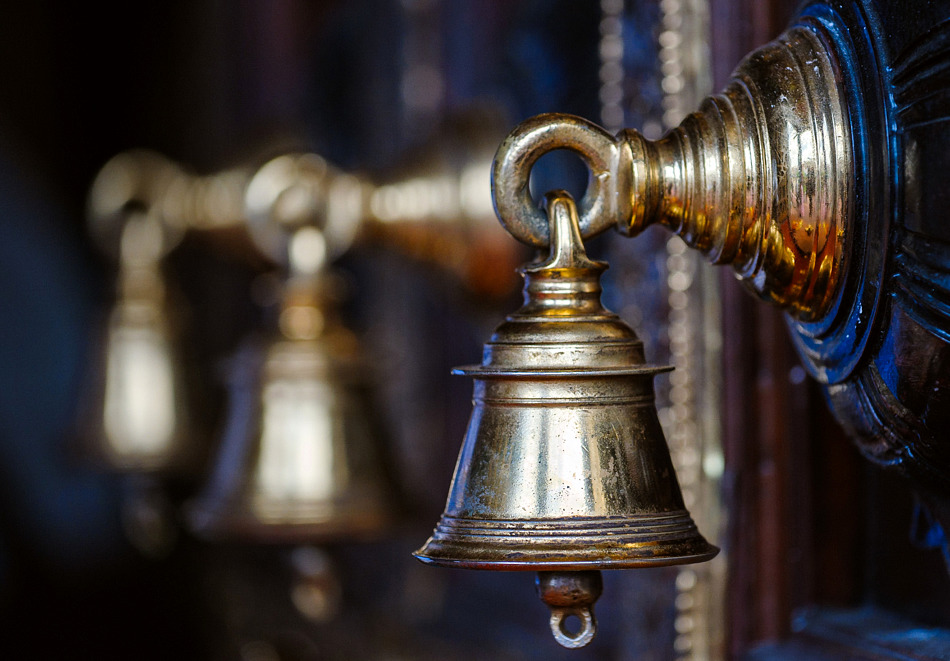 Bells at the Temple, Sri Mariamman Temple, Chinatown, Singapore.