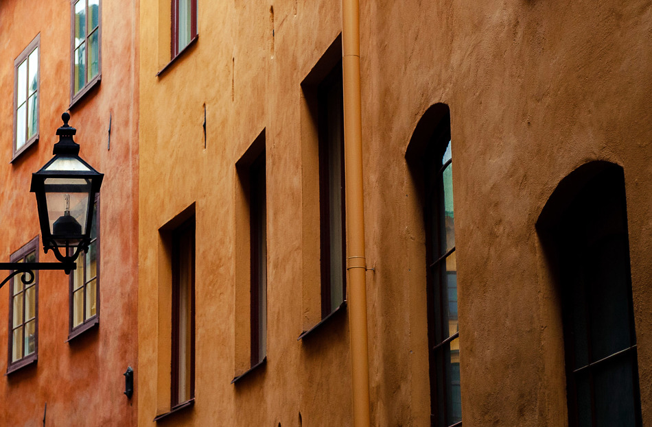 Wandering about Gamla Stan in Stockholm.