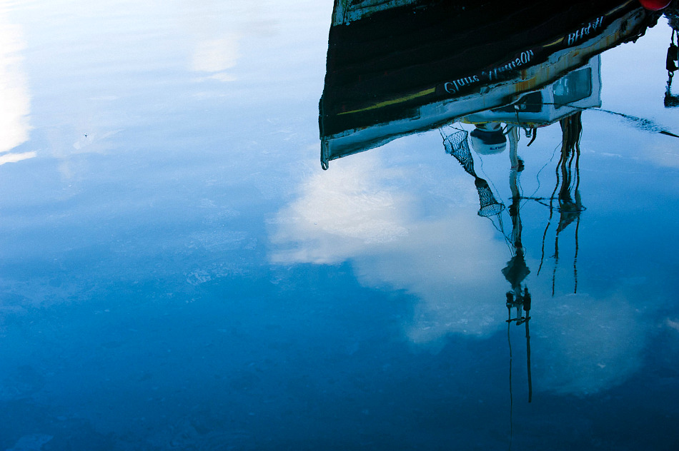 Scarborough harbour reflections